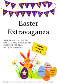Easter treasure hunt poster